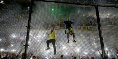 """Los aficionados de Boca Juniors mostraron su habitual pasión hacia los """"Xeneizes"""" y rechazo a los """"Millonarios"""", pero nada fuera de lo acostumbrado. Foto:Getty Images"""