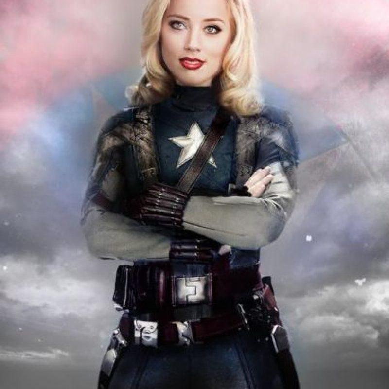 """Amber Heard sería """"Capitán América"""" Foto:vía disimilis.tumblr.com"""