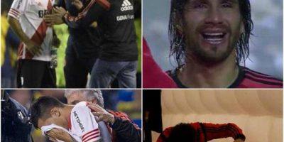 Pero antes del segundo tiempo, jugadores del River Plate fueron atacados con gas lacrimógeno en el túnel. Foto:Vía twitter.com