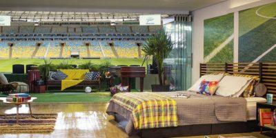 La suite VIP tiene vista al centro del campo de juego del Estadio Maracaná. Foto:Airbnb