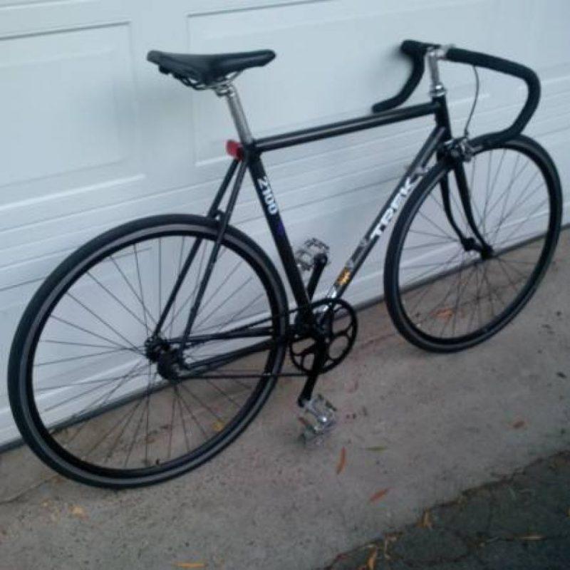 Una bicicleta de piñón fijo marca Trek. Foto:vía Craiglist