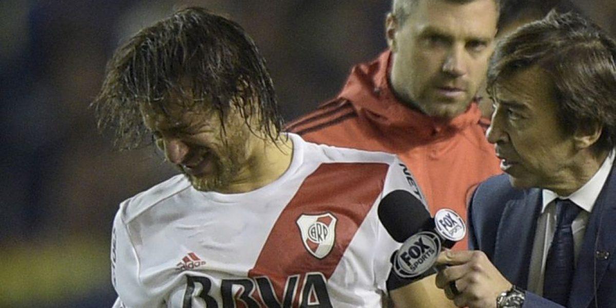 4 futbolistas de River Plate sufren queratitis química por las agresiones en La Bombonera