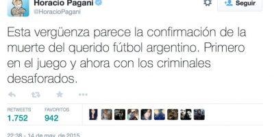 Esto fue lo que dijo Horacio Pagani, periodista y comentarista de T y C Sports. Foto:vía Twitter