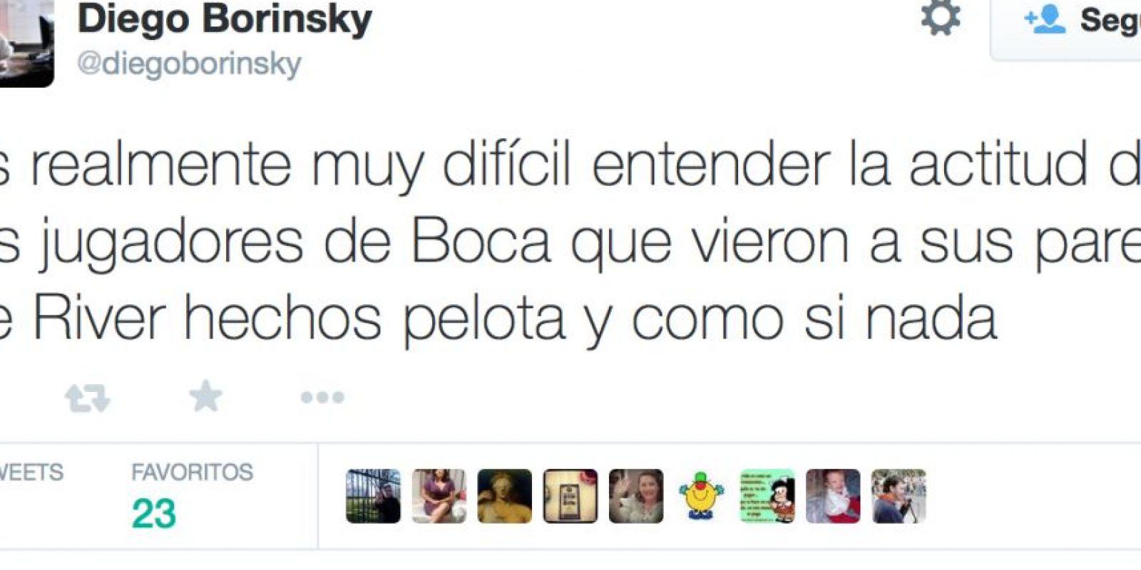Diego Borinsky, periodista deportivo. Foto:vía Twitter