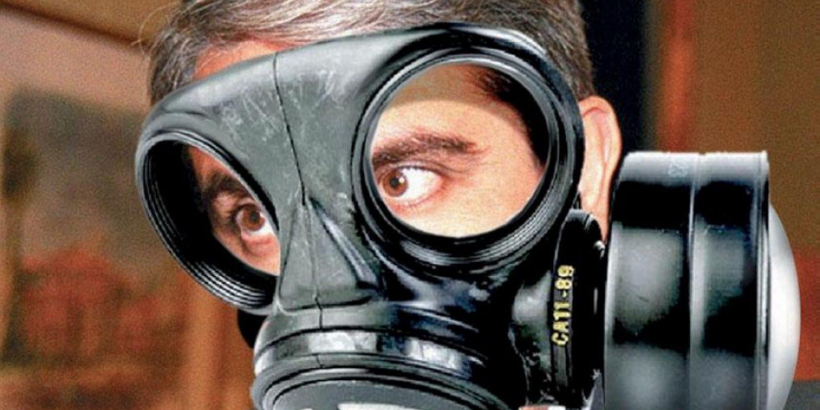 Las máscaras antigas hicieron su aparición. Foto:Vía twitter.comVía twitter.com