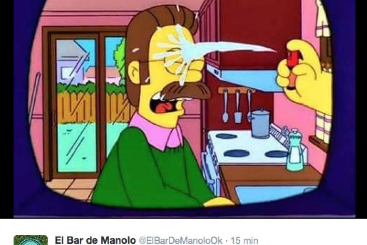 """Y más bromas inspiradas en """"Los Simpson"""", también. Foto:Vía twitter.com"""