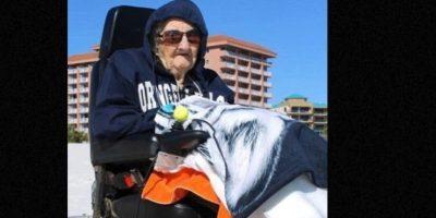Esta mujer de 100 años jamás había visto el mar Foto:Perdido Beach Resort