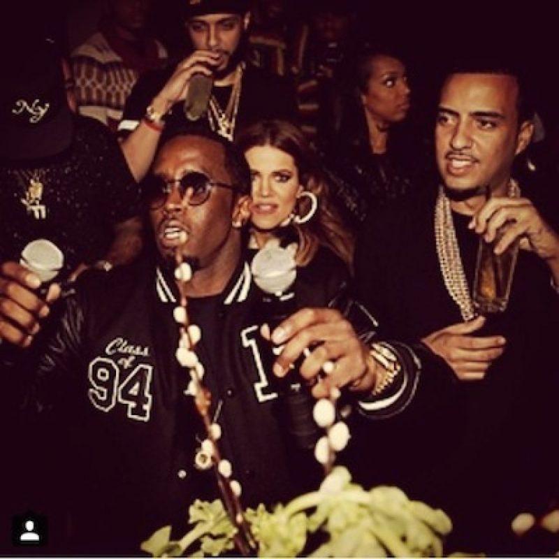 Junto a French Montana y Khloé Kardashian Foto:Instagram.com/frenchmontana