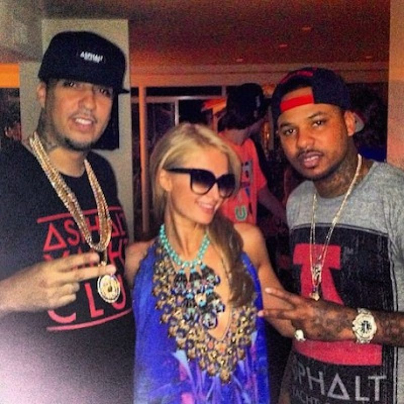 Con Paris Hilton Foto: Instagram.com/chinxmusic