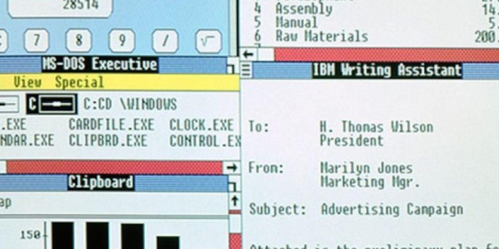 En 1987, Windows anunciaba sus nuevas actualizaciones. Windows 2.0 al 2.11 se lanzarán desde esa fecha hasta el año 1990. Foto:Vía windows.microsoft.com