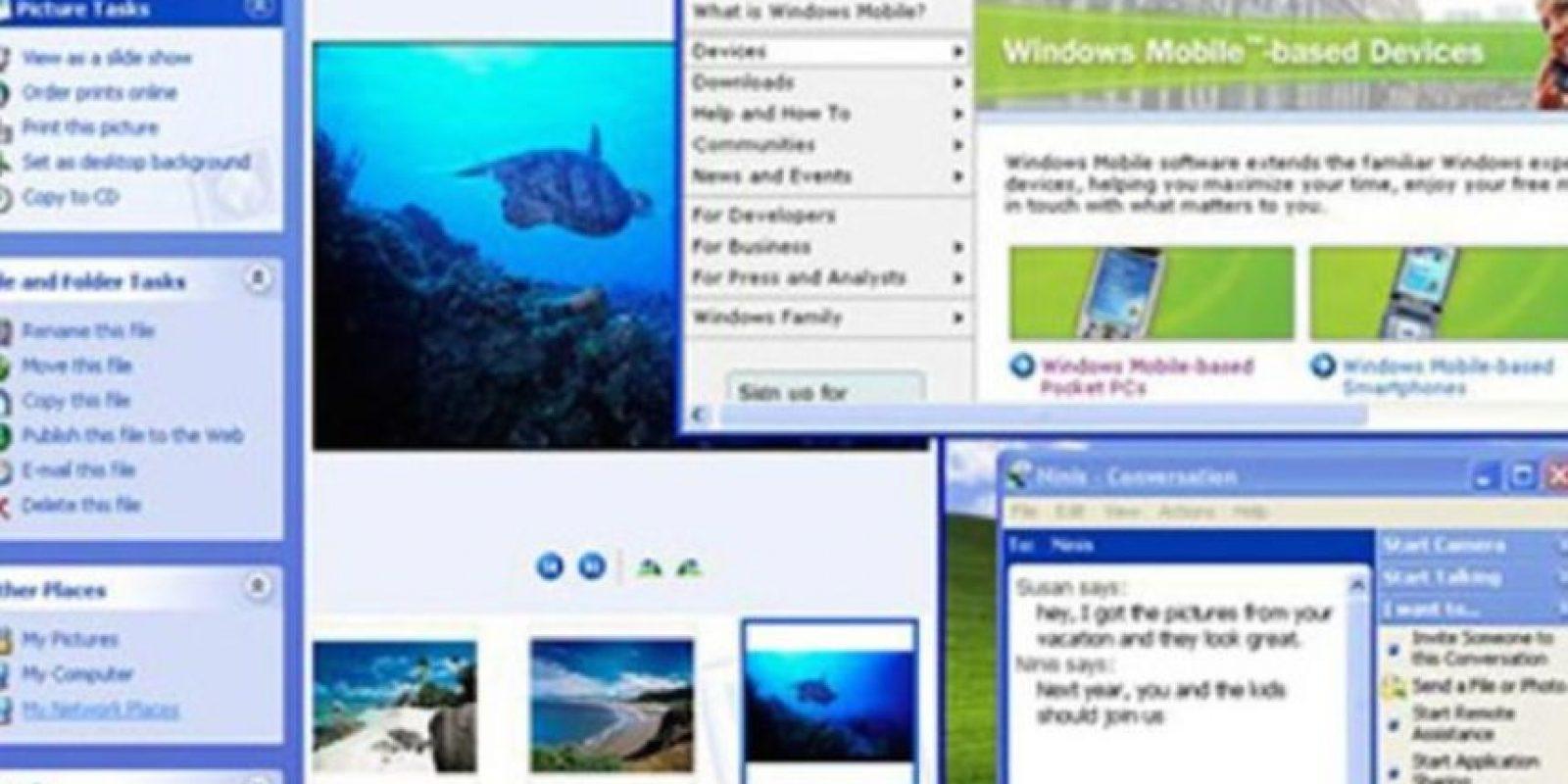 Plataformas como Windows 2000, Windows Me y Windows Home vendrían al abordaje, pero sería hasta el año 2001 cuando uno de los mejores Windows que se recuerda apareció: el Windows XP. Foto:Vía windows.microsoft.com