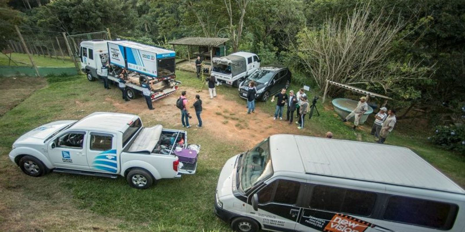 """""""Después de muchas horas de viaje, Raví llegó a Rancho dos Gnomos"""", informó la organización Foto:Facebook.com/RanchoDosGnomos"""