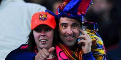La afición del Barcelona está de fiesta esta temporada, pues su equipo logró coronarse campeón de Liga. Foto:Getty Images