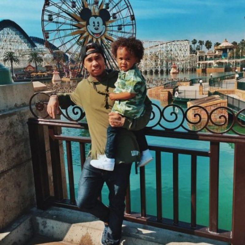 Tyga y su hijo King Cairo Stevenson Foto:vía instagram.com/kinggoldchains