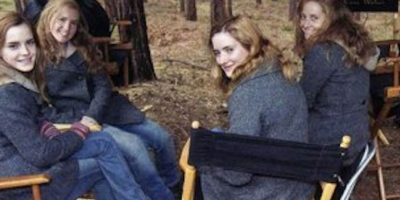 "Emma Watson y sus dobles en ""Harry Potter"" Foto:Vía iheartwatson.net/"