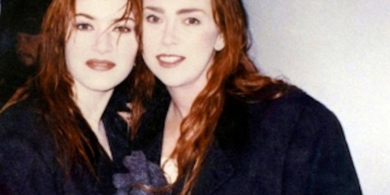 "Kate Winslet y su doble en ""Titanic"" Foto:Vía http://ihearttitanic.tumblr.com/"