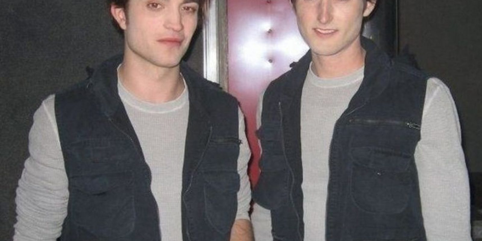 Robert Pattinson y su doble Paul Darnell Foto: Vía robpattinson.blogspot.mx/