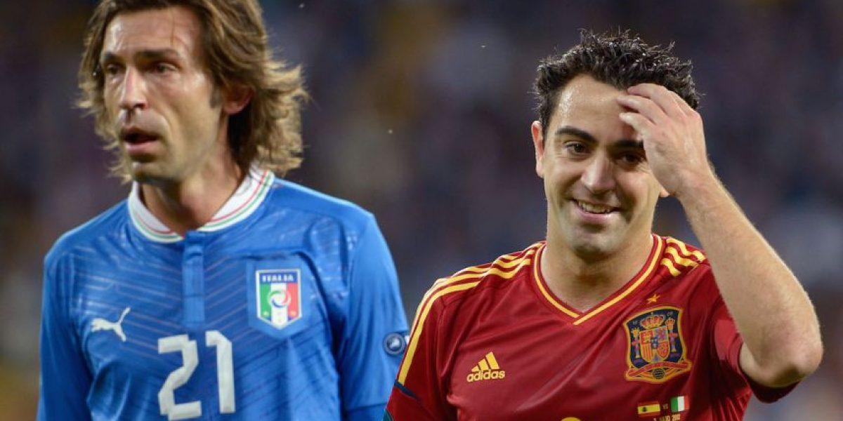 Xavi y Andrea Pirlo podrían jugar juntos la próxima temporada