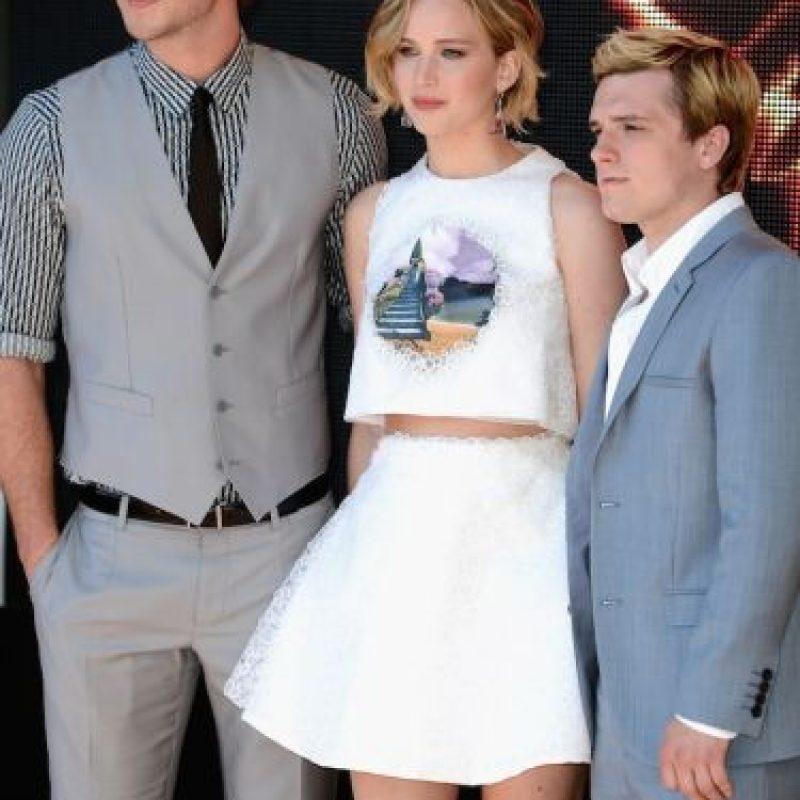 Cinta en la que colabora con Liam Hemsworth y Josh Hutcherson. Foto:Getty Images
