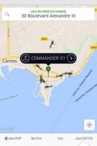 Es utilizado por las celebridades para transportarse a eventos del Festival de Cannes 2015. Foto:twitter.com/UberFR