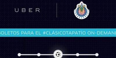 Boletos para partidos de fútbol – Disponible en México. Foto:twitter.com/Uber_GDL