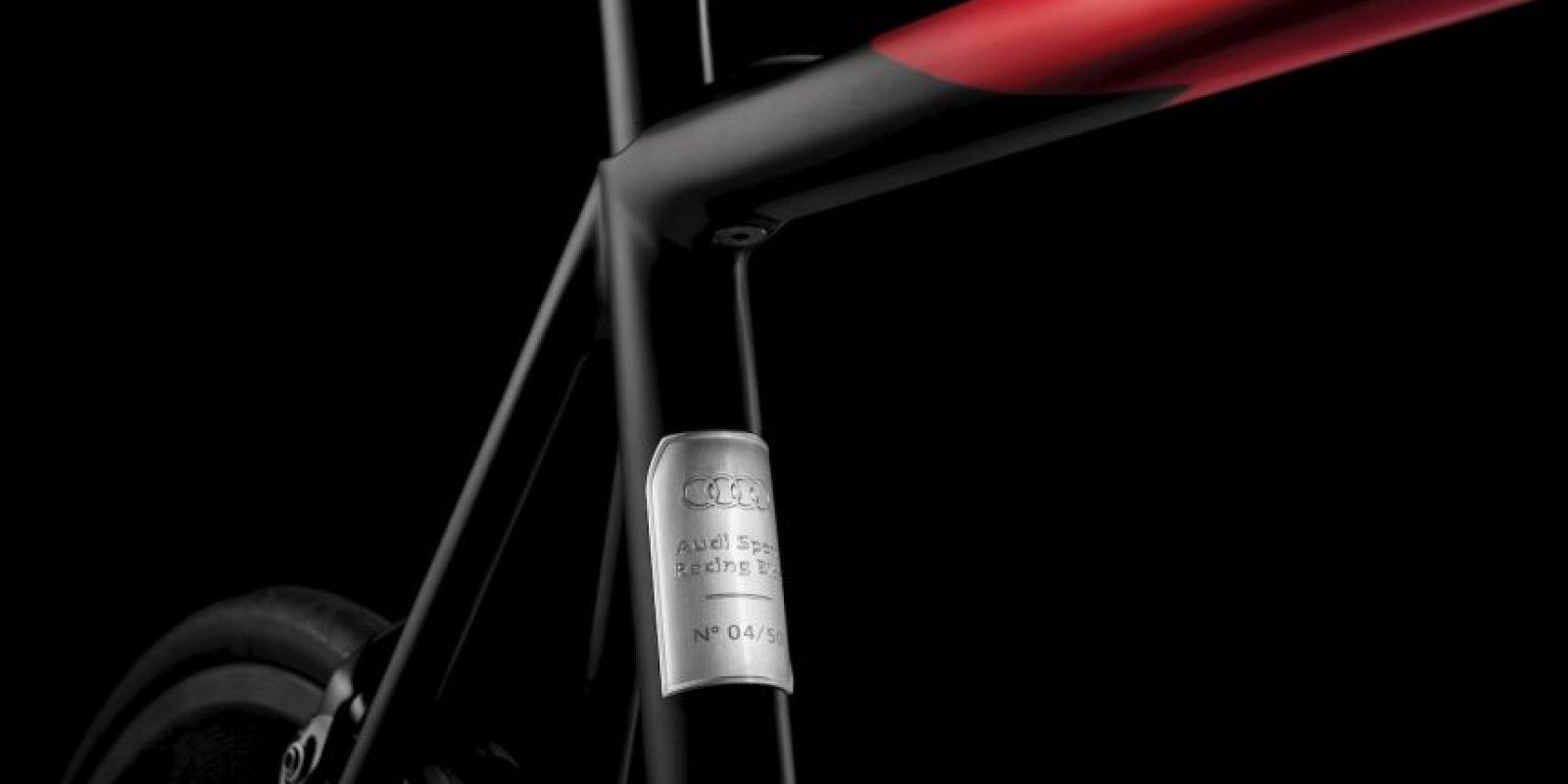 Cada pieza tiene una insignia de edición limitada. Foto:Audi