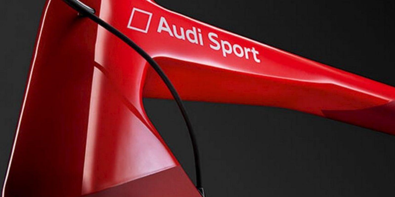 Su cuadro es de fibra de carbono T1000. Foto:Audi