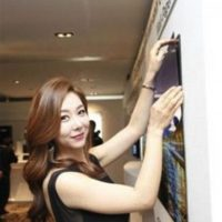 """El """"wallpaper TV"""" de LG Dispaly fue presentado a los medios de comunicación con una demostración en Corea del Sur Foto:LG Display Co."""
