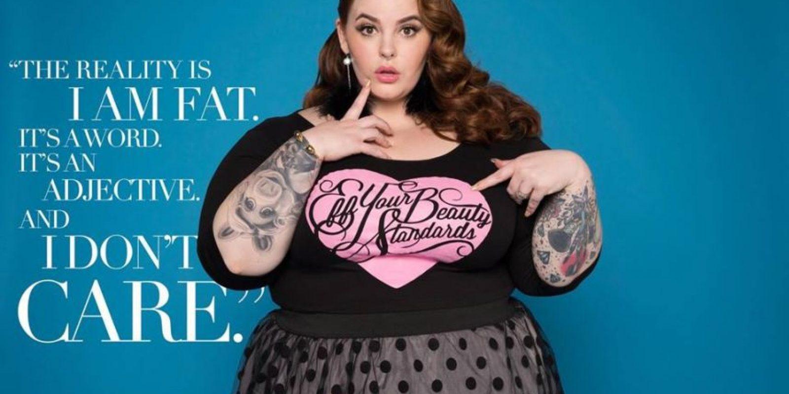 Se hizo famosa a nivel mundial por su campaña viral #effyourbeautystandards, en la que mostró que toda mujer de cualquier talla puede ser bella. Foto:vía Facebook/Tess Holliday