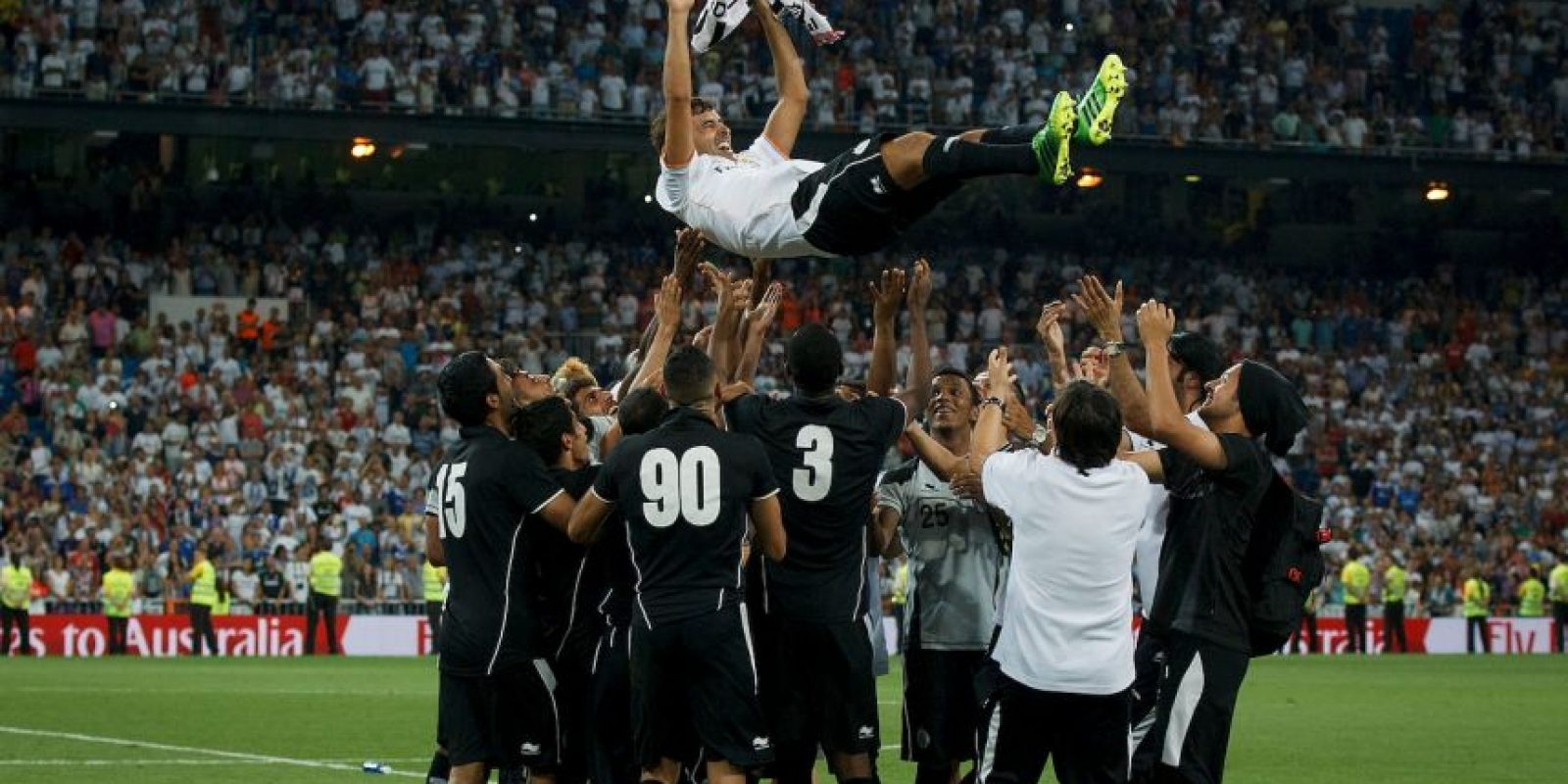 El mítico delantero español jugó de 2012 a 2014 con el Al-Sadd, que le pagó 14.4 millones de dólares Foto:Getty Images
