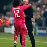 """También Marcelo es de los acérrimos defensores de Ancelotti: """"Desde mi punto de vista, es un ganador. Por mí, el míster seguiría, es un grandísimo entrenador"""". Foto:Getty Images"""