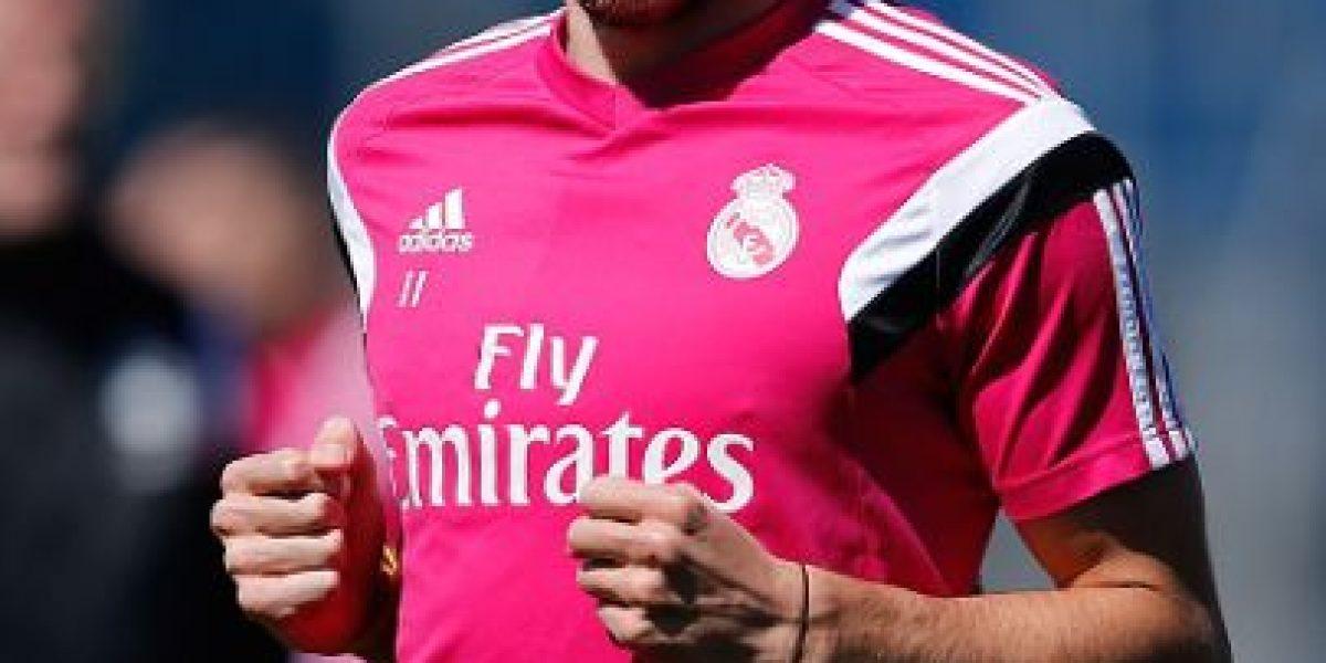 Gareth Bale estrenó look en entrenamiento del Real Madrid