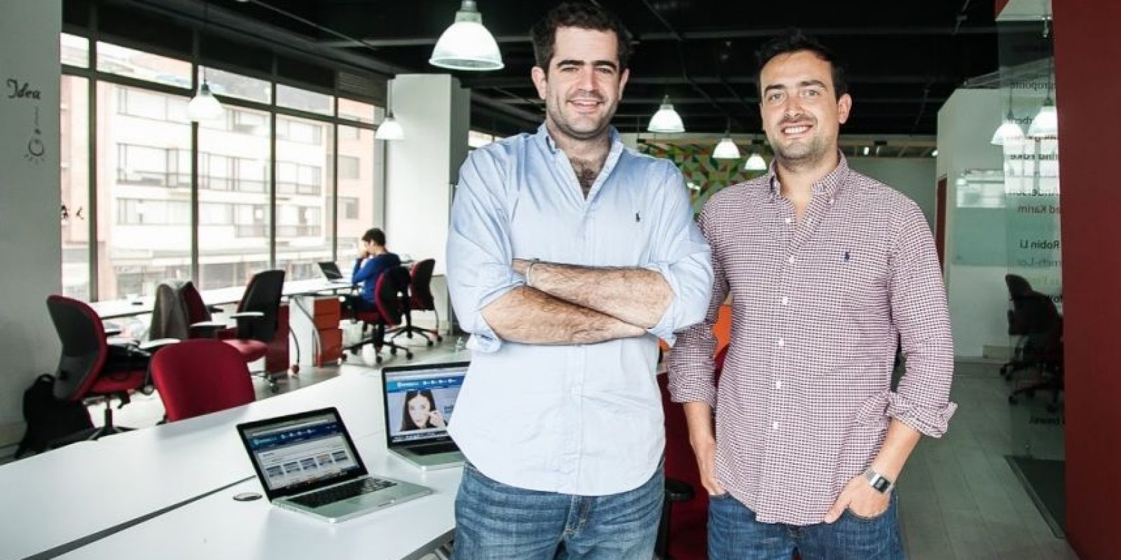 Los fundadores de Lentesplus. Foto:Lentesplus