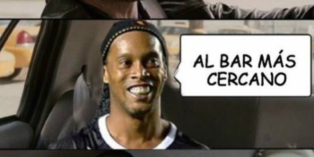 #MeLargoComoRonaldinho, el hashtag con el que se burlan del crack brasileño