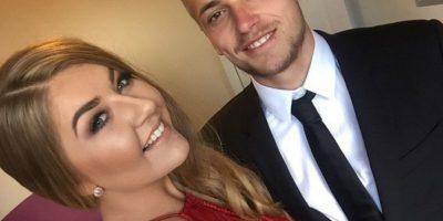 El jugador James Wilson llevó a su novia Frankie Barwell a la gala del United Foto:Vía instagram.com/f_vbx