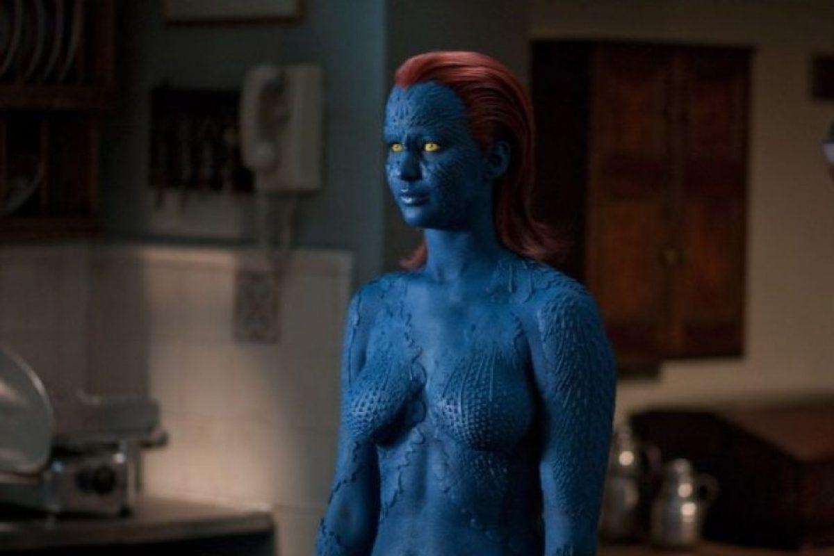 """Jennifer Lawrence interpretó a """"Mystique"""", una mutante con la habilidad de transformarse en cualquier persona. Foto:IMDB"""