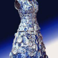 Vestido de porcelana del MET. Foto:vía METMuseum