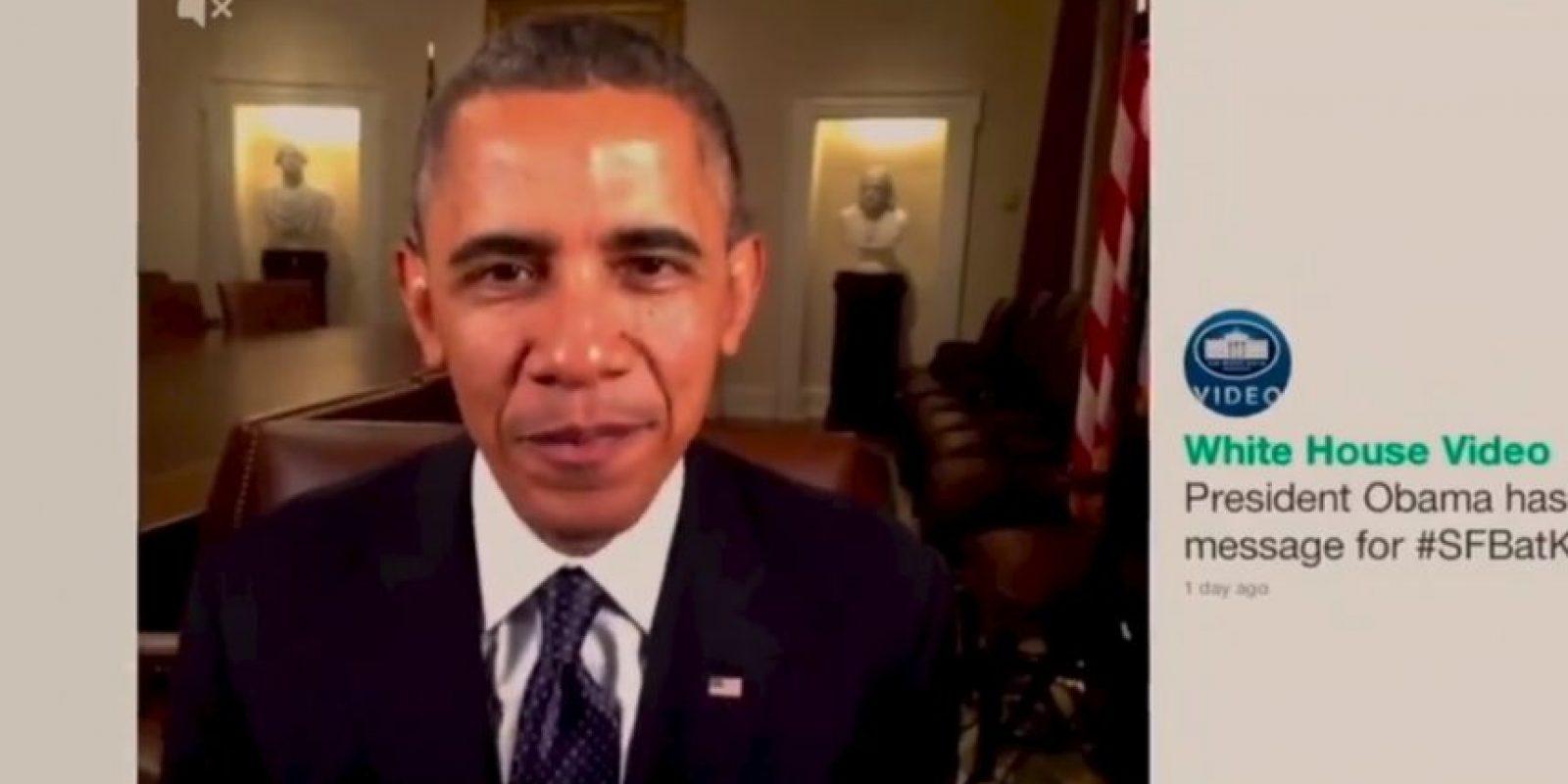 Varias personalidades se unieron a la iniciativa, incluido el presidente Obama. Foto:vía Youtube/Warner Bros