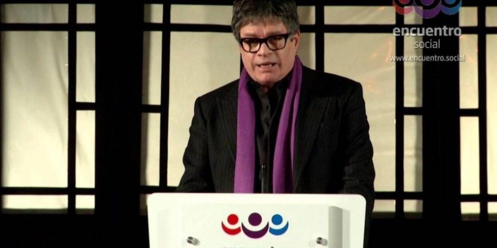 Actualmente es candidato al congreso mexicano por parte del Partido Encuentro Social Foto:PES