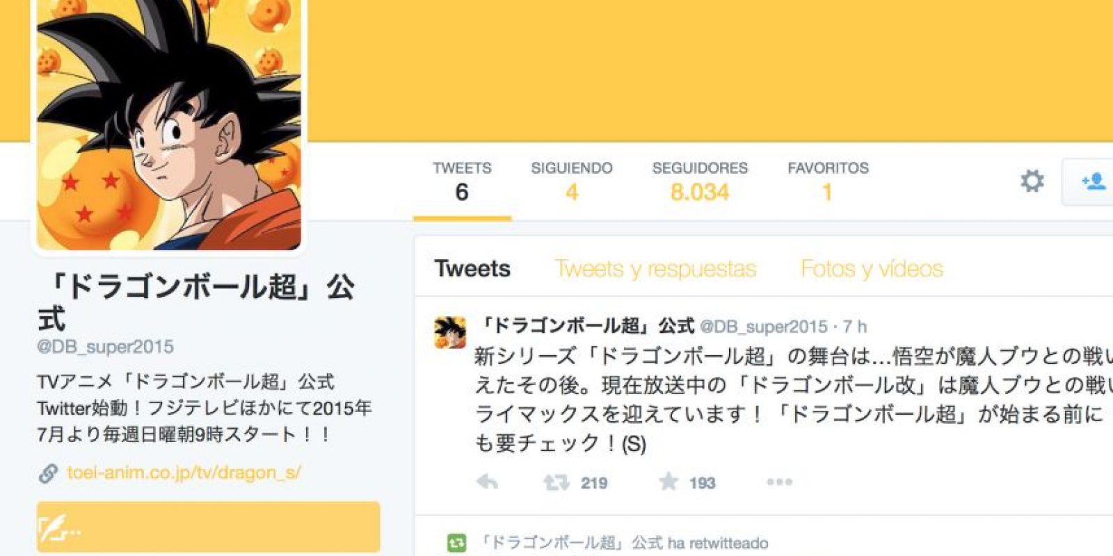 Por ahora, la serie ya tiene su cuenta en Twitter. Foto:via Twitter/Dragon Ball Super