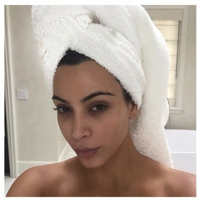 Sin maquillaje Foto:vía instagram.com/kimkardashian