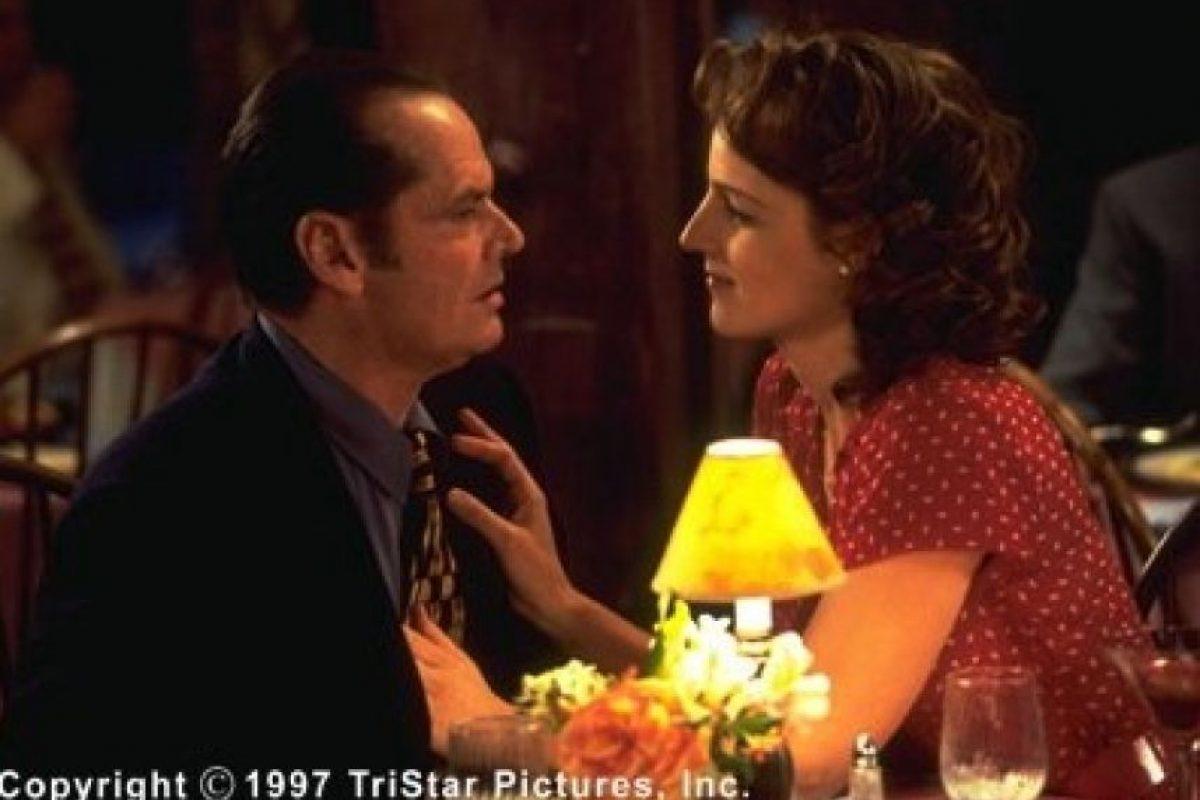 En 1997, las arrugas ya se hacían presentes en el rostro de Jack Nicholson de 60 años, en contraste con los 34 años de Helent Hunt. Foto:IMDB