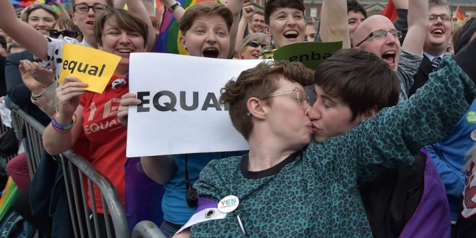 Ellos optaron por besarse Foto:Getty Images