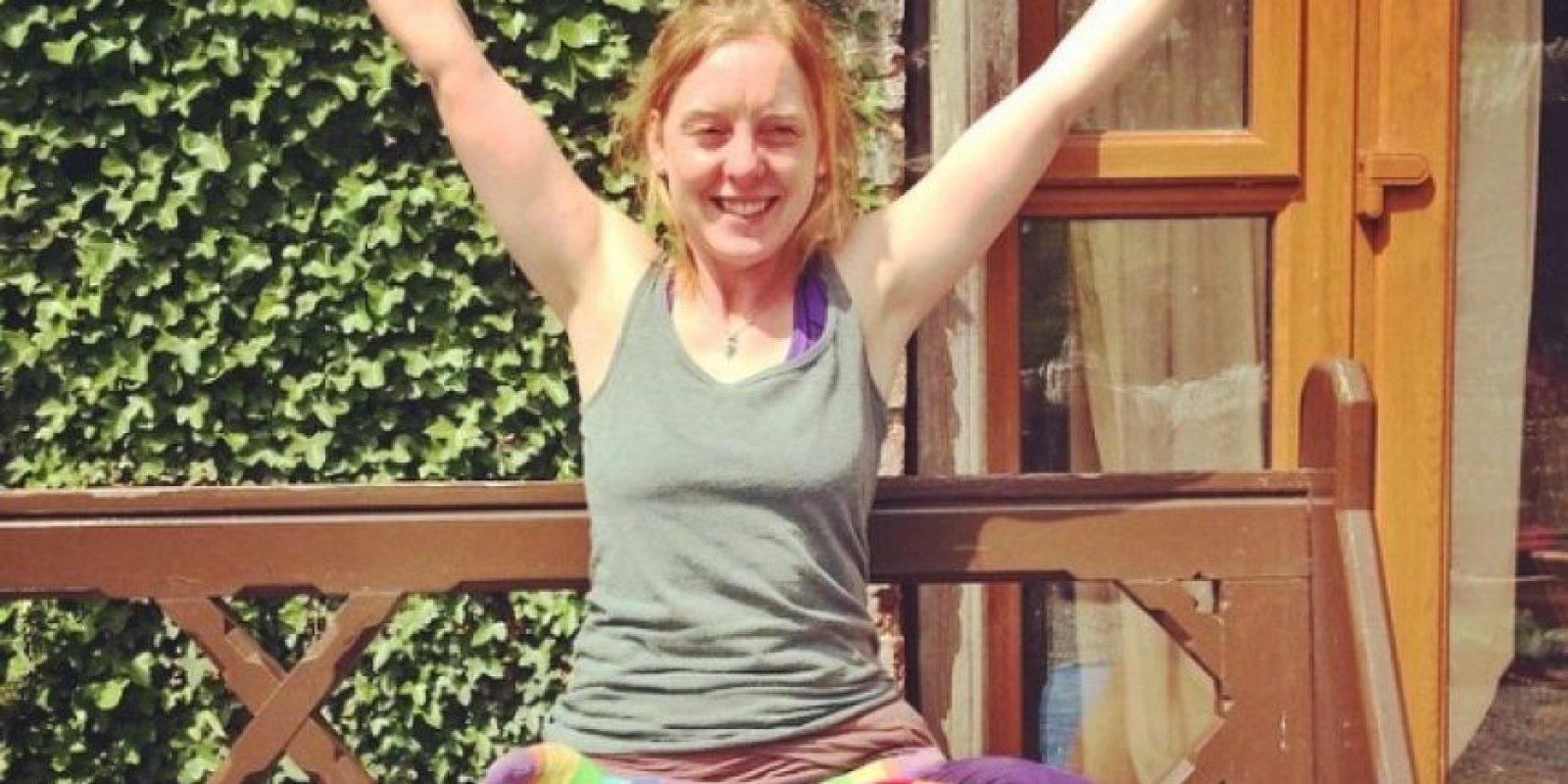 Ella celebra con sus medias de colores Foto:vía Instagram