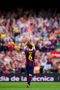 Xavi Hernández jugó su ultimo partido con la camiseta culé Foto:Getty Images
