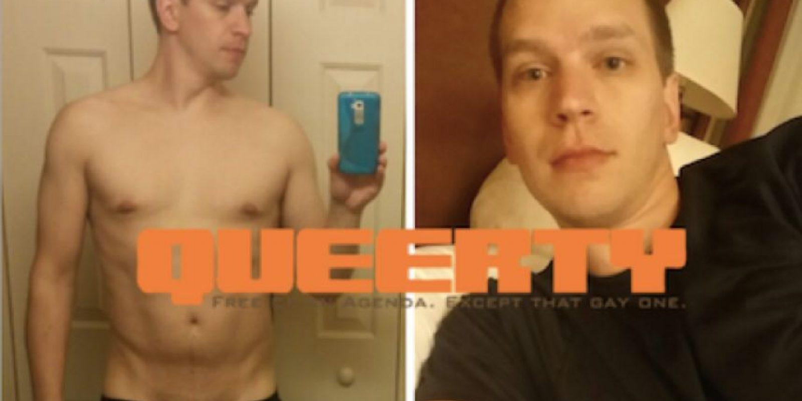 """Eso, hasta que la página """"Queerty"""" le descubrió su cuenta en GRINDR. Foto:vía Queerty"""