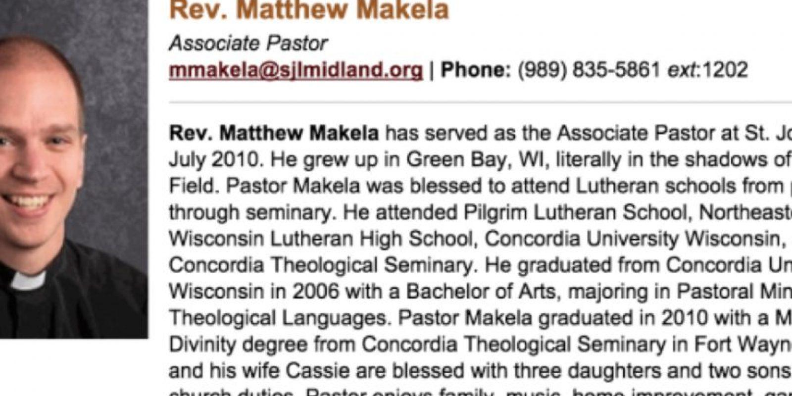 Esto le pasó a Matt Makela. Con cinco hijos. De una iglesia en Michigan. Foto:vía Iglesia de San Juan/Michigan