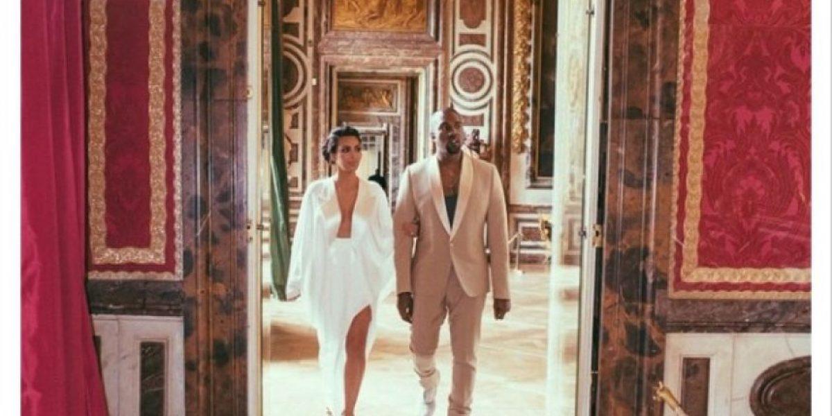 Kim Kardashian reveló fotografías inéditas de su boda con Kanye West