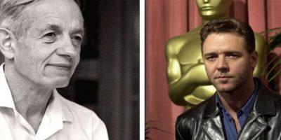 """La película """"Una Mente Brillante"""" fue inspirada en la vida de este matemático, quien fue interpretado por el actor Russell Crowe Foto:Getty Images"""