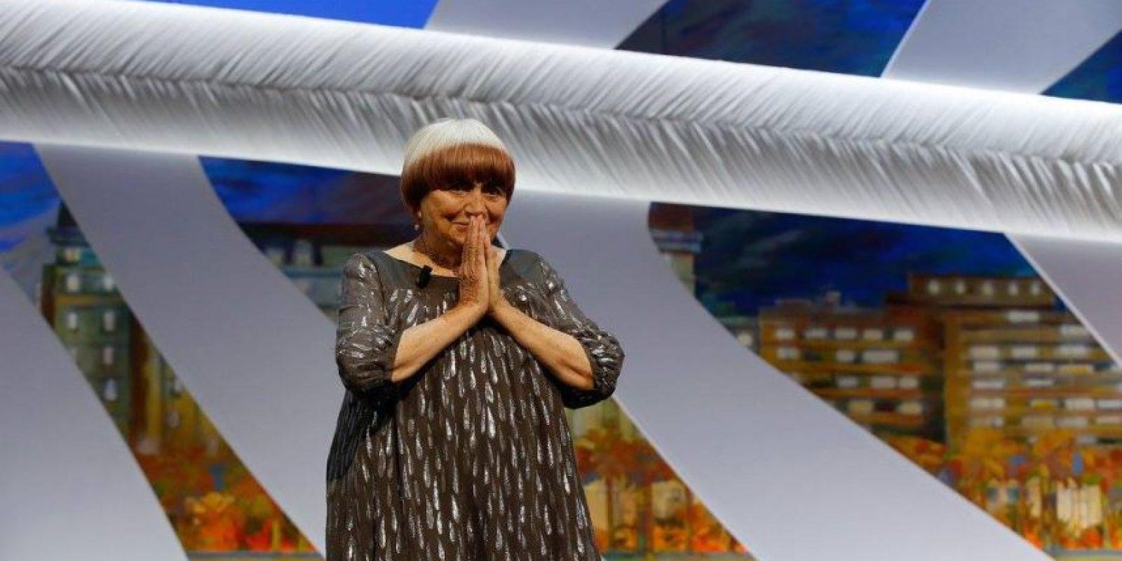 La veterana francesa, Agnes Varda, ganó la Palma de oro por su carrera. Foto:vía facebook.com/Festival-de-Cannes-Page-Officielle